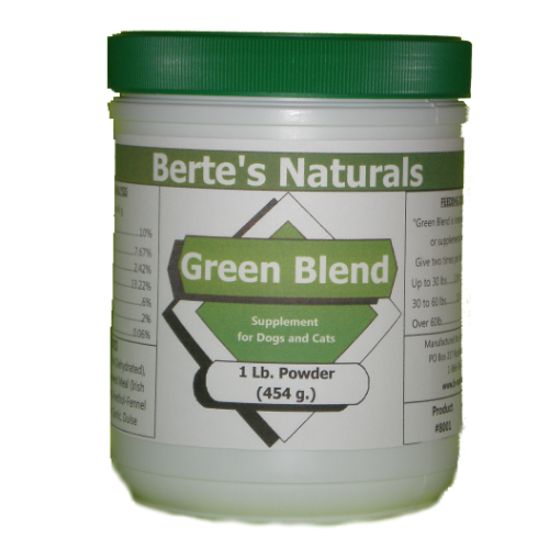 Berte's Green Blend Sea Vegetation Minerals and Vitamins for Dogs, Cats and Birds (1lb)