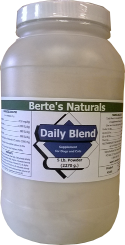 Berte's Daily Blend Vitamins for Dogs (5 lb)